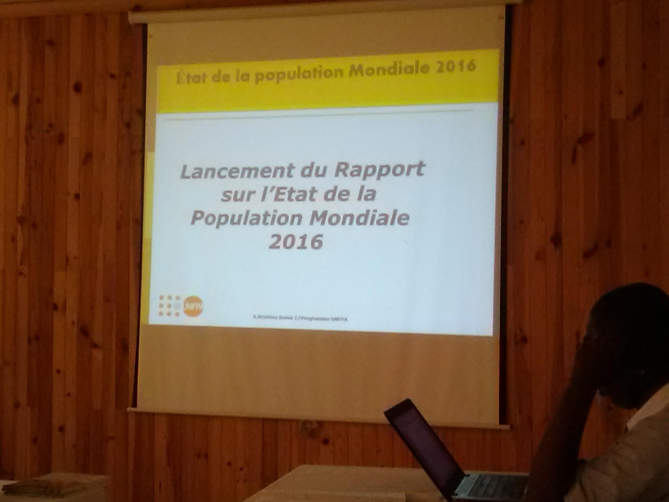 RAPPORT DE 2016 SUR L'ETAT DE LA POPULATION MONDIALE