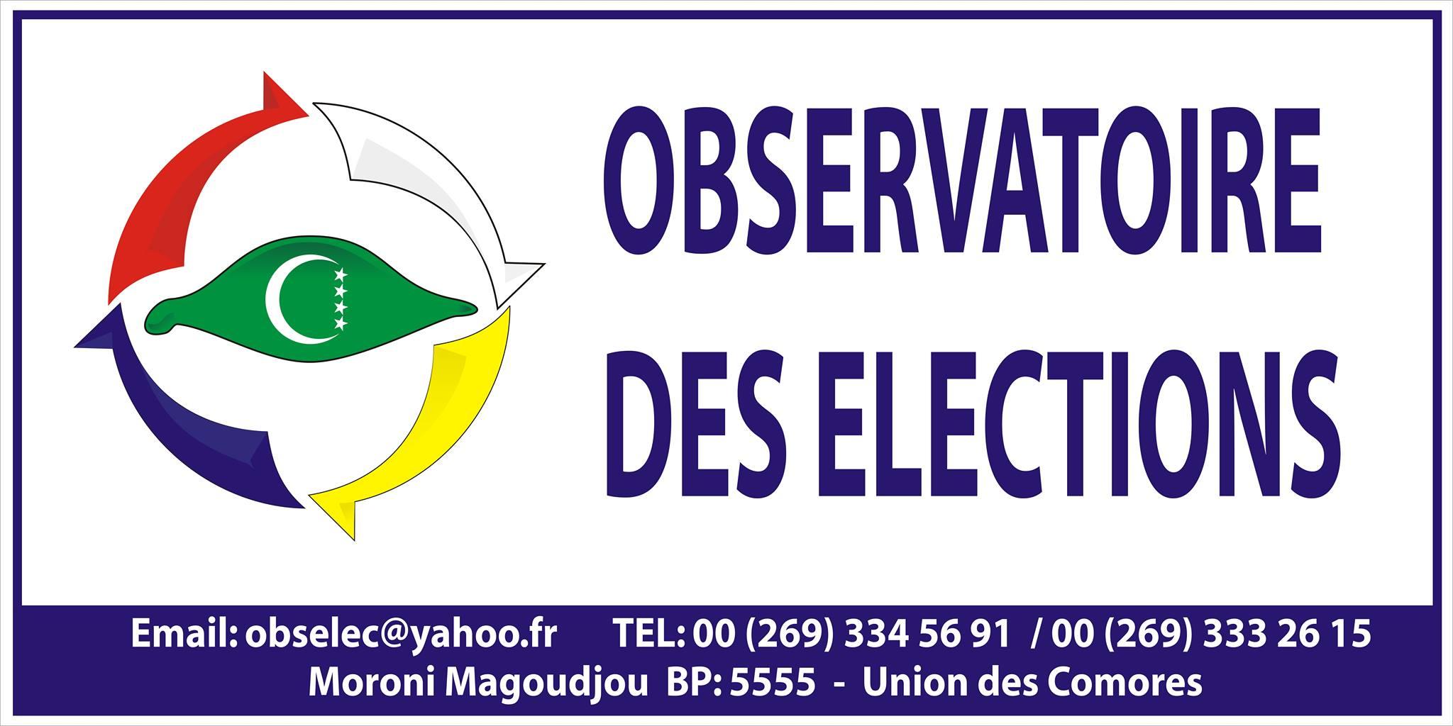 Déclaration de l' Observatoire des élections avant le vote