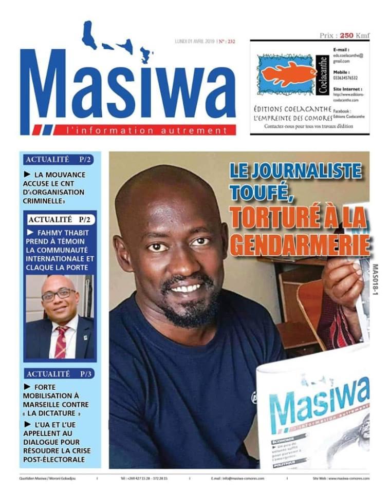 L'article censuré Le journaliste Toufé, torturé à la gendarmerie