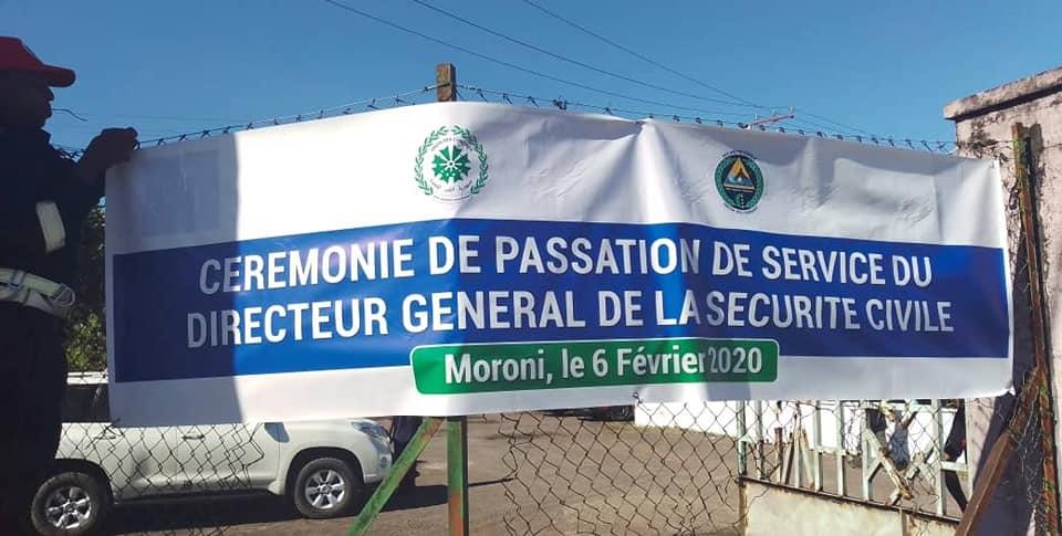 HaYba SECURITE CIVILE  Passation de service à la Direction Générale de la Sécurité Civile (DGSC) anciennement COSEP.