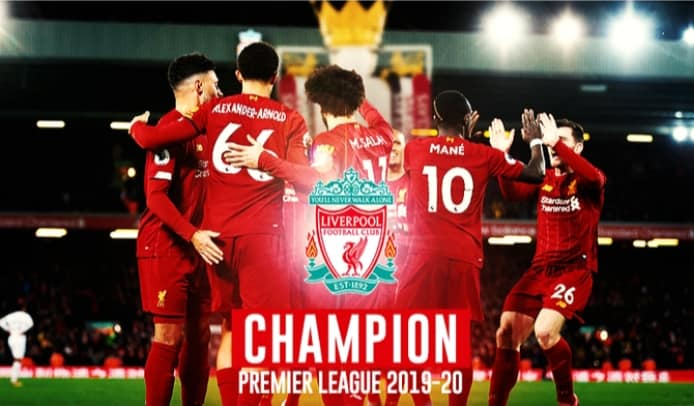 HaYba Sport Liverpool FC sacré champion d'Angleterre de football
