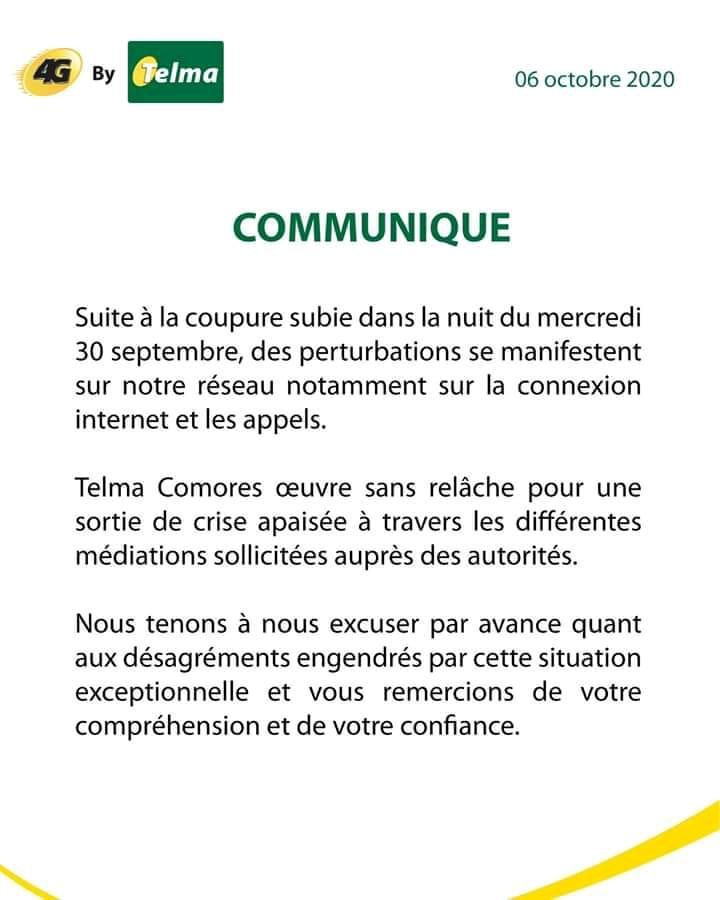 HaYba TÉLÉCOMMUNICATIONS  Communiqué de Telco SA à ses clients.