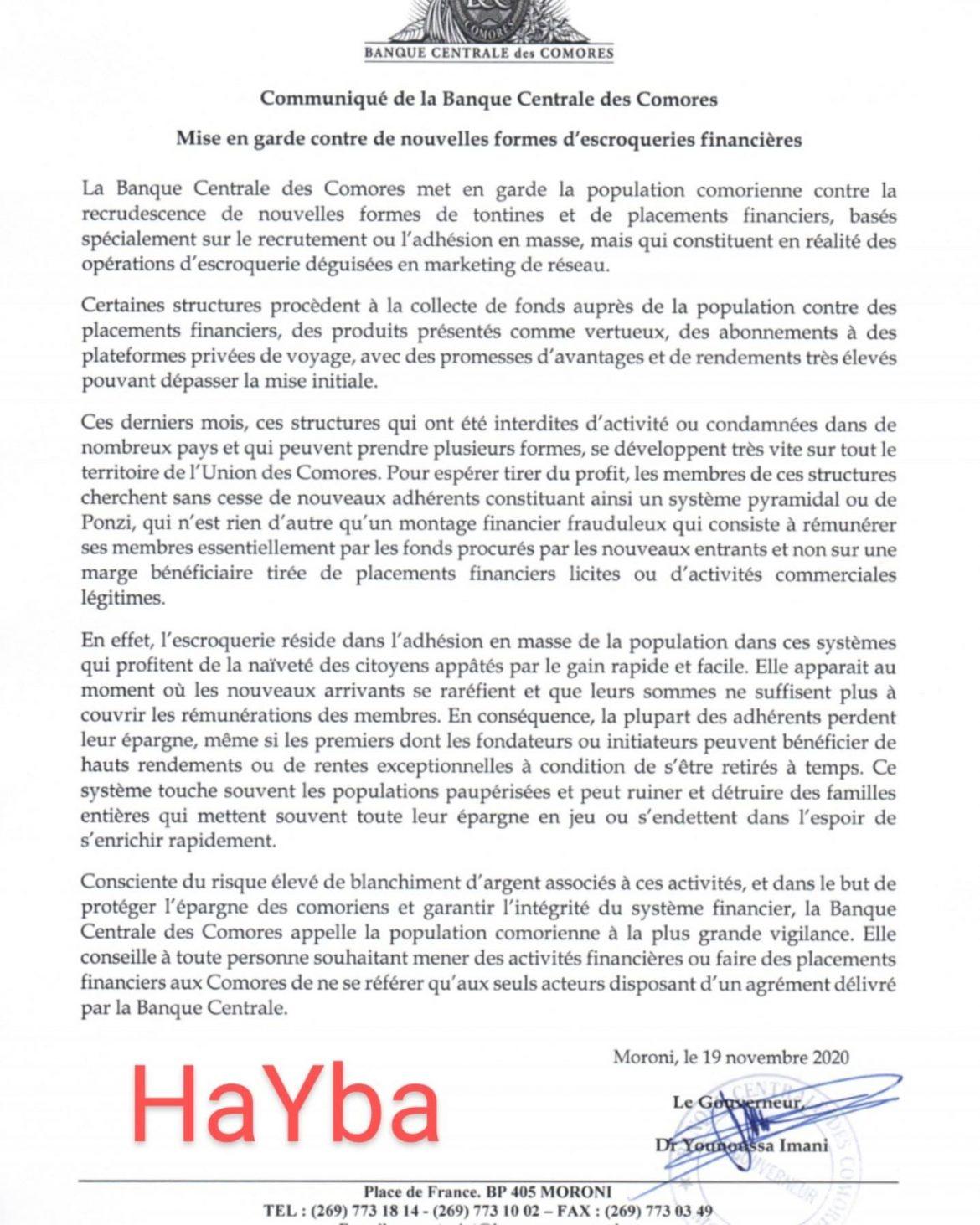 HaYba ECONOMIE & FINANCES
